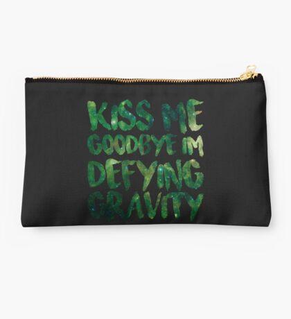 Kiss Me Goodbye I'm Defying Gravity Studio Pouch