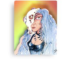 Cyborg Woman Canvas Print