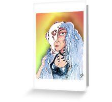Cyborg Woman Greeting Card