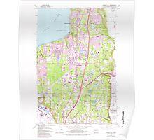 USGS Topo Map Washington State WA Poverty Bay 243267 1961 24000 Poster