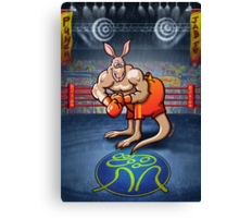 Olympic Boxing Kangaroo Canvas Print