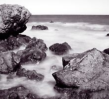 Waves between Rocks by Tamara Rogers