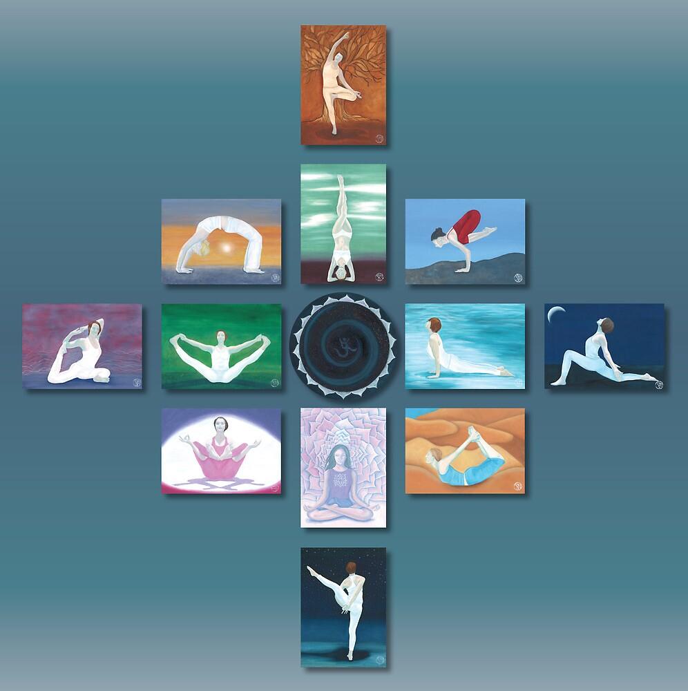 Yoga Art Series by Ria  Rademeyer
