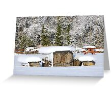 Picnic in the snow Greeting Card