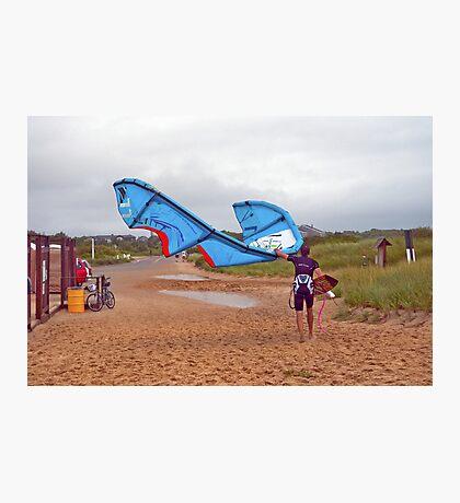 Too Windy, Headin' Home Photographic Print