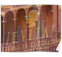 Evita at the Casa Rosata Poster