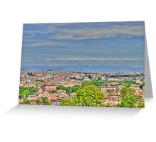 Roma, view from Gianicolo, HDR Greeting Card