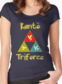 Kanto's Legendary Triforce Women's Fitted Scoop T-Shirt