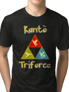 Kanto's Legendary Triforce Tri-blend T-Shirt