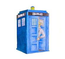 Doc and his Tardis by byrntwyvern