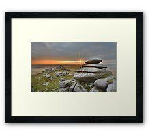 Cornwall: Sunburst on Roughtor Framed Print