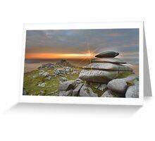 Cornwall: Sunburst on Roughtor Greeting Card