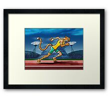 Olympic Runner Cheetah Framed Print
