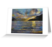 New Zealand Sunset Greeting Card