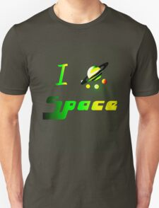 i love outer space heart planets science dark T-Shirt