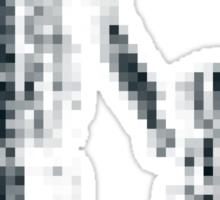 8 bit pixel pedestrians (dark) Sticker