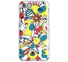 Blue Yellow Red Abstract 14 iPhone Case/Skin