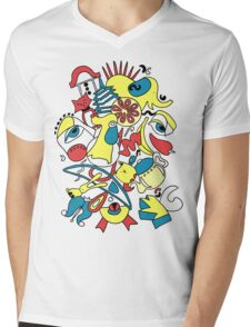Blue Yellow Red Abstract 14 Mens V-Neck T-Shirt