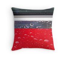Wet red metal Throw Pillow