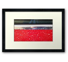 Wet red metal Framed Print
