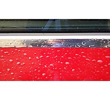 Wet red metal Photographic Print
