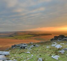 Cornwall: Last Light on Bodmin Moor by Rob Parsons