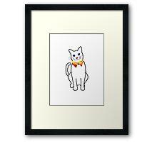 Cat collar Framed Print