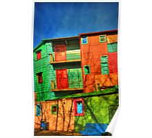 Colored Homes Poster