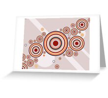 Rings of Color Abstract Graphic Greeting Card
