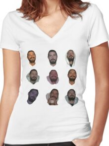 All My Movies Women's Fitted V-Neck T-Shirt