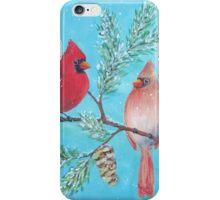 Cardinals in Winter iPhone Case/Skin