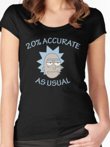 Rick - 20% Accurate! Women's Fitted Scoop T-Shirt