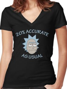 Rick - 20% Accurate! Women's Fitted V-Neck T-Shirt