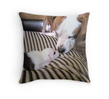 Daddy Buster and Son, Pirate-3 weeks Throw Pillow