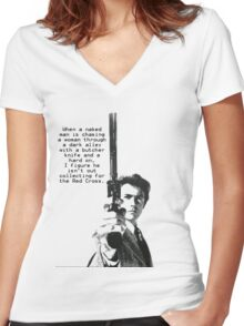 Dirty Harry Charity Women's Fitted V-Neck T-Shirt