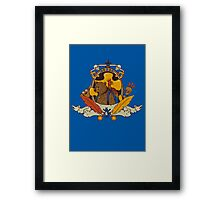 Bear & Bird Crest Framed Print