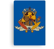 Bear & Bird Crest Canvas Print