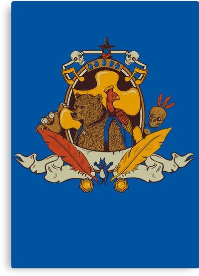 Bear & Bird Crest by sponzar