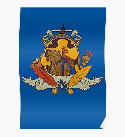 Bear & Bird Crest Poster