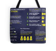 Purim explained: A Jewish holiday infographic Tote Bag