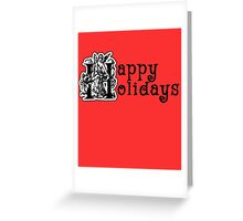Happy Holidays Ornate Typography Greeting Card