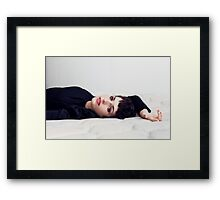 On my bed Framed Print
