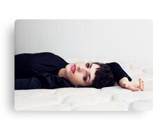 On my bed Canvas Print