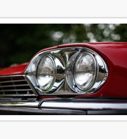 Old retro car details. Elegant auto from the past. Sticker