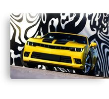 Luxury sport yellow car. Speed and modern style Canvas Print