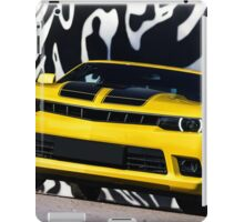 Luxury sport yellow car. Speed and modern style iPad Case/Skin
