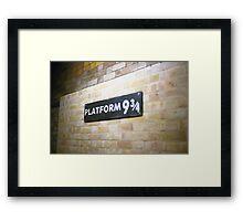 Platform 9 3/4 Framed Print