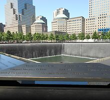 View across the North Tower Memorial Pool by lilyisabelle