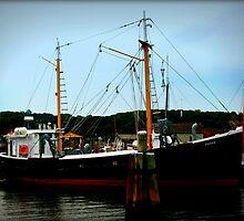 Ship in Port by Amanda Vontobel Photography