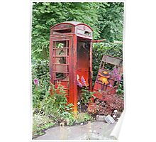An overgrown telephone box Poster